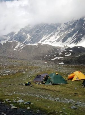 Kugti Pass Base Camp